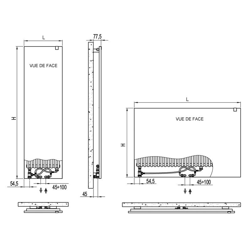 Radiateur plat rex radiateur electrique radiateurs senia radiateur chauffage central - Reglage radiateur electrique ...