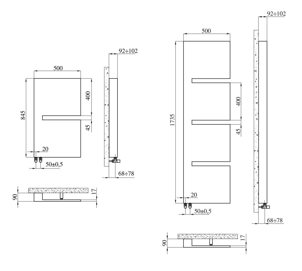 Radiateur design sequenza panneau rayonnant radiateurs - Reglage radiateur electrique ...