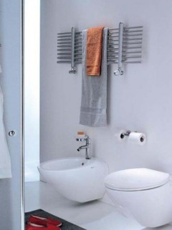 seche-serviettes chrome, radiateur salle de bain chrome, seche-serviettes horizontal,